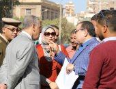صور.. محافظ سوهاج يتفقد أعمال تطوير شارع الجمهورية بحى شرق