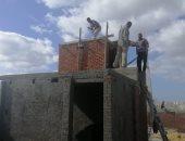 """صور.. إيقاف 4 عقارات مخالفة وضبط عربات باعة جائلين تستخدم """"البوتاجاز"""" بالإسكندرية"""