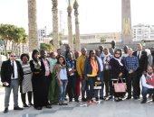 صور.. وفد الاتحاد الأفريقى يزور إدارات ديوان عام بورسعيد