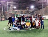 مكتب الشباب الأفريقى ينظم مباراة كرة قدم خلال فعاليات برنامج متطوعى الاتحاد الأفريقى
