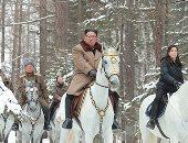 زعيم كوريا الشمالية يزور مواقع المعارك فى مناطق جبل بايكتو