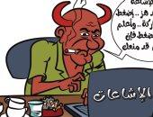 كاريكاتير صحيفة ليبية.. مروج الشائعات على مواقع التواصل يسعى للخراب
