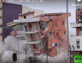 رُب ضارٍة نافعة .. بعد زلزال عنيف ضرب ألبانيا.. السلطات تفجر المبانى