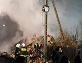 تسريب للغاز يؤدى لانفجار مبنى فى بولندا وتسويته بالارض.. (صور)