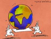 كاريكاتير صحيفة سعودية.. بدء قمة المناخ فى مدريد