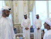 فيديو.. طفل يلقى قصيدة أمام ولى عهد أبوظبى ويثير إعجابه