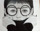 """""""أمنية"""" تشارك صحافة المواطن رسومات توضح موهبتها فى الرسم بالقلم الرصاص"""
