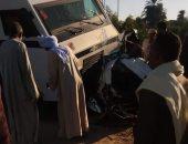 إصابة شخصان إثر حادث اصطدام سيارة ملاكى بسور محور صفط اللبن