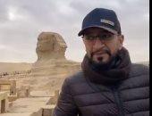 سأدعم سياحة مصر.. إبراهيم بهزاد يدعو لزيارة القاهرة من أمام الأهرامات.. فيديو