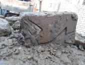 الآثار تعلن اكتشاف 19 كتلة حجرية أثرية فى ميت رهينة