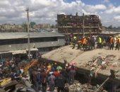 فيديو.. انهيار مبنى من 6 طوابق فى كينيا وإنقاذ 10 من السكان
