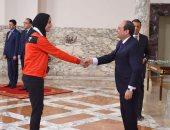 بطلة الكاراتيه: تكريم الرئيس لنا مع كرة القدم يعكس المساواة بين الرياضات