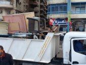 صور.. حملة مكبرة على شواطئ الإسكندرية لإزالة المخلفات