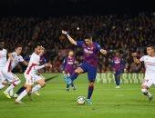 """برشلونة ضد مايوركا.. شاهد واستمتع بهدف سواريز الخرافي بـ""""الكعب"""""""
