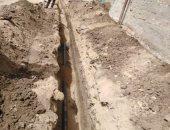 بدء إحلال وتجديد خطوط مياه الاسبستوس فى عدد من أحياء مركز الخارجة