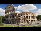 شاهد... روما القديمة تحت الثلج.. حضارة وجمال