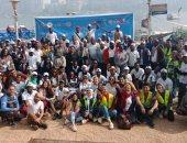 200 متطوع يمثلون 54 دولة بالاتحاد الأفريقى يشاركون فى حملة لتنظيف النيل