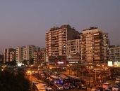 صور..  محافظة الجيزة تنهى طلاء عقارات الميدان بلون موحد