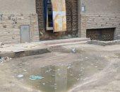 شكوى من تراكم مياه الصرف الصحى فى شارع فلسطين بالصف