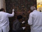 آثار الإسكندرية : انتهاء 75% لأعمال ترميم الأبواب الرئيسية بقلعة قايتباى