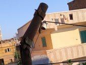 شكوى من تهالك أحد أعمدة الإنارة بشارع المقابر بقرية سماتاى فى الغربية
