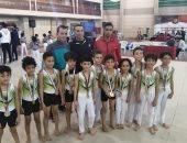 جمباز الشرقية يحصد 13 ميدالية فى بطولة الجمهورية