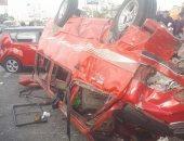 إصابة 15 شخصا فى حادث انقلاب ىسيارة ربع نقل على الطريق الزراعى بالمنيا