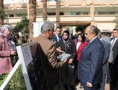 وزير الزراعة يتفقد معرض النماذج الزراعية للطاقة الشمسية لمعهد الهندسة الزراعية