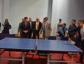 شاهد.. مباراة تنس طاولة بين وزيرى الرياضة والآثار فى المركز الأولمبى