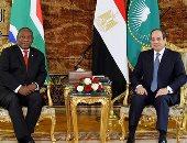 جلسة مباحثات الرئيس السيسى ونظيره الجنوب أفريقى سيريل رامافوزا