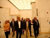 وزير الآثار يتفقد متحف الحضارة لمتابعة أعمال تطويره