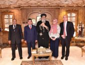 البابا تواضروس يستقبل سفير فنزويلا الجديد فى مصر.. صور