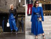 6 طرق لارتداء الأزرق الكلاسيكى فى الشتاء بعد إعلانه لون موضة 2020