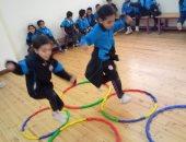 صور.. تلاميذ رياض الأطفال بالمدرسة اليابانية بزايد ينفذون حصة تعلم باللعب