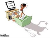 كاريكاتير صحيفة سعودية.. المضللون ينشرون الشائعات على مواقع التواصل