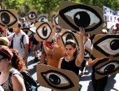 """""""مظاهرة العيون"""".. احتجاجات فى تشيلي ضد استهداف عيون المتظاهرين"""