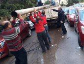 سقوط عمودى إنارة لسوء الأحوال الجوية شرق الإسكندرية