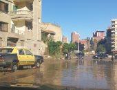 صور.. غرق شوارع المحلة بمياه الأمطار والدفع بسيارات الكسح لشفطها