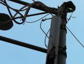 قارئ يشكو احتراق عمود كهرباء بميت سلسيل بالدقهلية