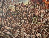 حكاية فنان حرب.. رسام اسكتلندى يوثق الإبادة الجماعية لـ8000 إنسان فى البوسنة.. بيتر هوسون وصف ما شاهده فى الجحيم.. ولوحة اغتصاب امرأة من قبل جنديين أثارت الجدل.. والتقارير تؤكد: دخل مصحة نفسية بعد عودته