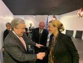 وزيرة البيئة تلتقى الأمين العام للأمم المتحدة بمدريد