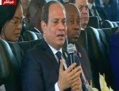 الرئيس السيسى: المرأة المسؤولة أكثر كفاءة وانتظاما وأقل فسادا