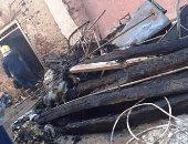 صور.. إصابة 3 مواطنين فى حريق منزل بمدينة أرمنت فى الأقصر