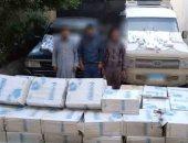 ضبط 25 ألف علبة سجائر مهربة قبل توزيعها على المحلات بالجيزة