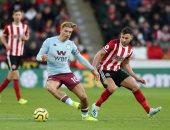تريزيجيه يشارك في هزيمة أستون فيلا ضد شيفيلد يونايتد بالدوري الانجليزي