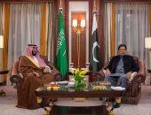 ولى العهد السعودى ورئيس وزراء باكستان يبحثان التطورات الإقليمية فى الرياض