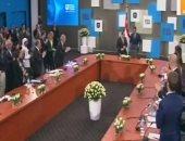الرئيس السيسى يشهد جلسة سبل التعاون بين دول المتوسط بمنتدى شباب العالم