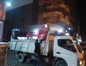 إزالة 30 حالة إشغال طريق بحى الجمرك فى الإسكندرية خلال حملة مسائية