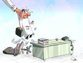 كاريكاتير صحيفة سعودية.. هيئة الرقابة تواجه فساد الموظفين