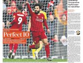 صحف إنجلترا تحتفل بثنائية محمد صلاح ضد واتفورد.. صور
